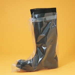 Clear Non Slip Poly Disposable Boot Covers Durable Quality Protective Slip