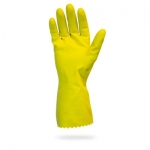 18mil Yellow Latex Flock Lined Glove, 12 inch