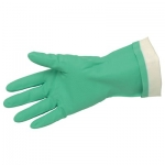 "15 mil Green Nitrile, 13"" Length, Flock Lined"