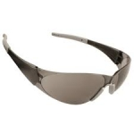 Cordova EHB20S Bulldog Black Safety Glasses, Gray Lens