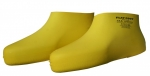 FLAT FOOT YELLOW RUBBER OVERSHOES