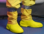 YELLOW PAC POLY RUBBER SHOE COVERS